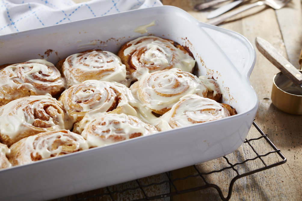 Cheater Cinnamon Buns with Cream Cheese Frosting