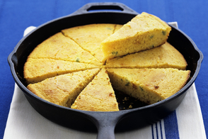 Skillet Cornbread with Bacon and Jalapeño