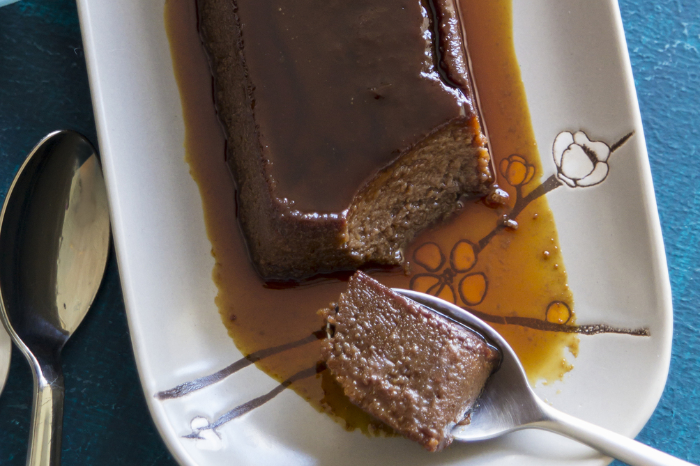Cream Cheese-Chocolate Flan