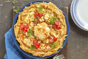 Artichoke & Salmon Egg White Quiche