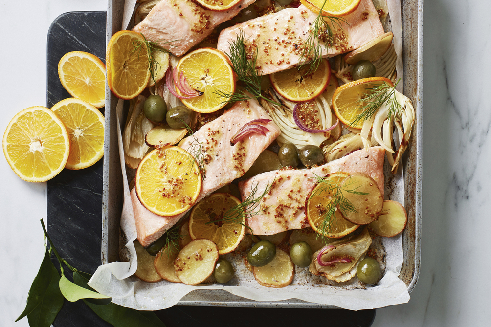 One-Pan Orange and Fennel Salmon