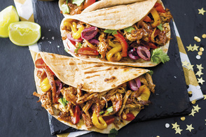Pulled Pork Tacos with Cilantro-Lime Sour Cream
