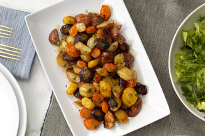 Dijon-Glazed Roasted Root Vegetables