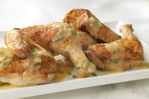 Roasted Chicken with Dijon Pan Sauce