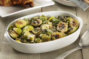 Creamy Garlic-Parmesan Brussel Sprouts