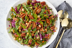 Swiss Chard Salad with Chickpeas