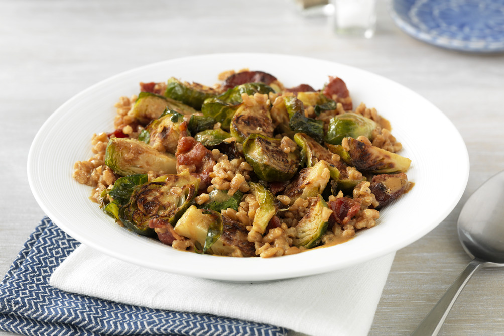 Roasted Brussels Sprouts & Farro Salad