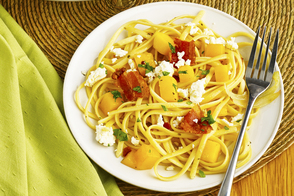 Warm Mango and Bacon Pasta