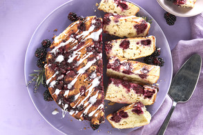 Lavender-Blackberry Upside-Down Cake