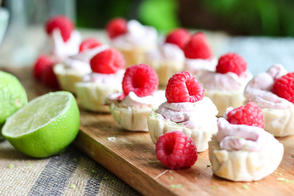 Raspberry-Lime Mini Tarts