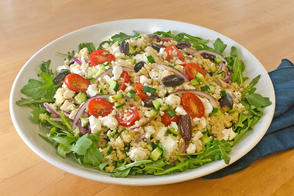 Mediterranean Couscous and Arugula Salad