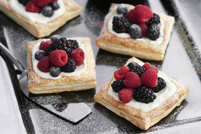 Mixed Berry-and-Pudding Puff Pastry Squares