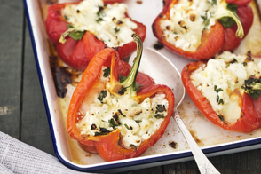 Feta and Cauliflower 'Rice' Stuffed Peppers