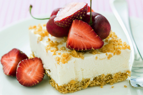 No-Bake Orange-Ginger Cheesecake