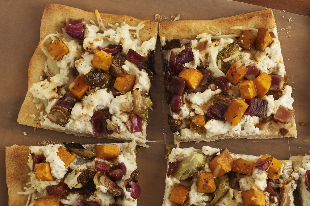 Roasted Fall Vegetable & Ricotta Pizza