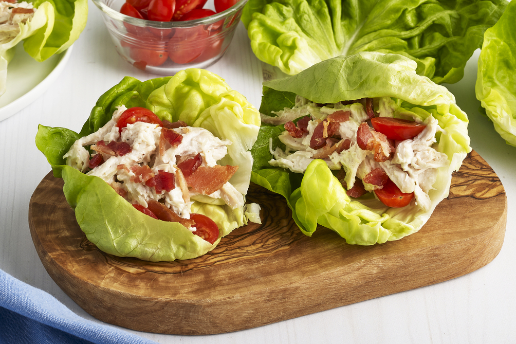 Chicken and Ranch BLT Lettuce Wraps