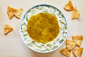 Monterey Jack Cheese Dip with Salsa Verde