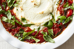 Red Pepper, Spinach and Goat Cheese Dip