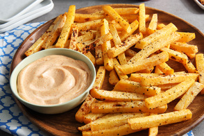 Air-Fryer Rutabaga Fries with Chipotle-Lime Mayo