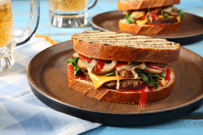Grilled BOCA Patty Melts