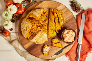 Pumpkin Sun-Dried Tomato Pesto Soda Bread