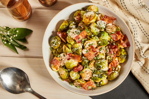 Creamy Bacon Brussels Sprouts