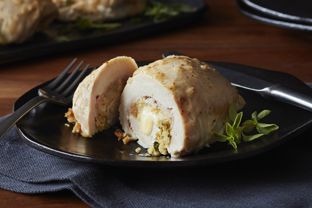 Cordon Bleu-Stuffed Chicken Breasts