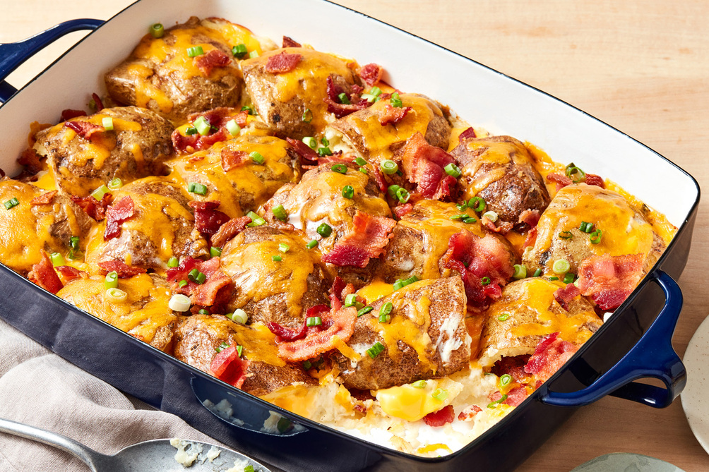 Loaded Baked Potato Skins Casserole