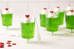 Mini JELL-O Holiday Heart Cups