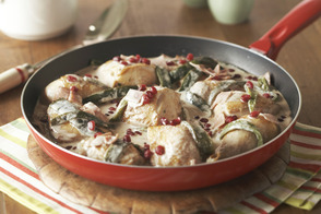 Creamy Chicken with Roasted Poblanos